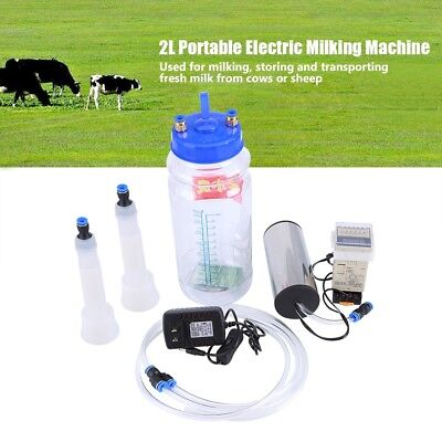 2l Portable Electric Milking Machine Vacuum Pump For Farm Cow Sheep Goat Milking