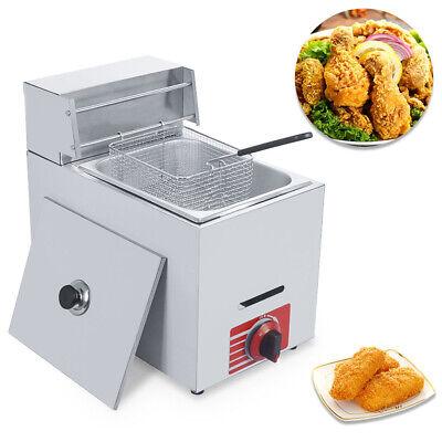 Commercial Countertop 10l Gas Fryer 1 Basket Gf-71 Propane Lpg Deep Fryer