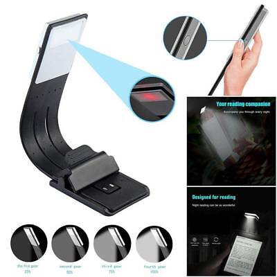 LED Reading Book Light Flexible Clip Rechargeable Lamp For Kindle/eBook Readers