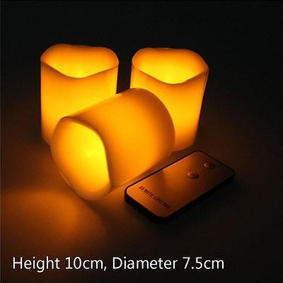 Flameless Flickering Battery Operated LED Tea Light Candle Remote Control HOT JS