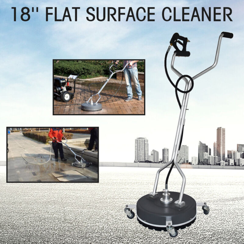 """18"""" Stainless Steel Flat Surface Concrete Cleaner Pressure Washer with Wheels"""