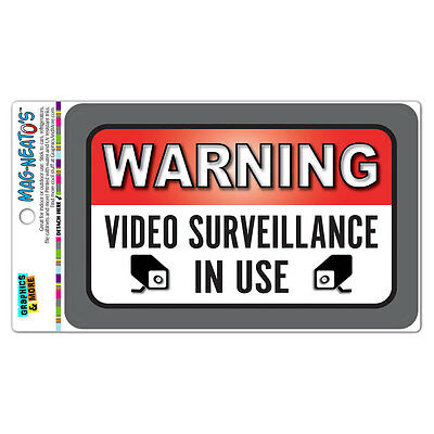 Warning Video Surveillance In Use Mag-neatos Vinyl Magnet Sign