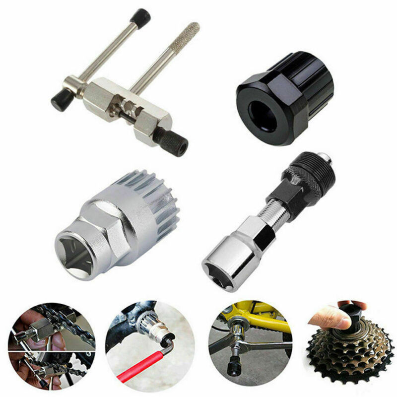 4Pcs Bicycle Crank Extractor Puller Bottom Bracket Remover Spanner Repair Tools
