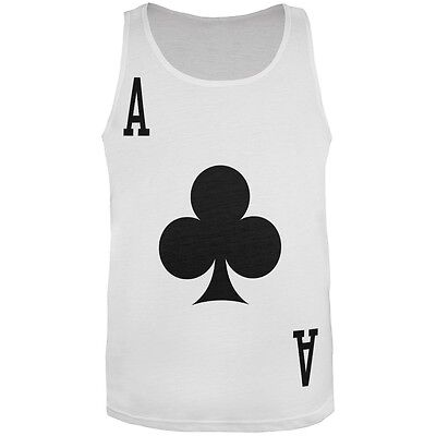 Halloween Ace of Clubs Card Soldier Costume All Over Adult Tank Top