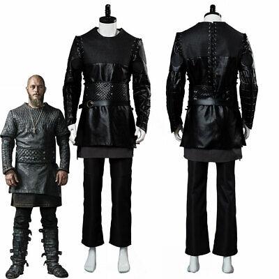 Vikings Ragnar Lothbrok Travis Fimmel Black Uniform Cosplay Costume Outfit Set