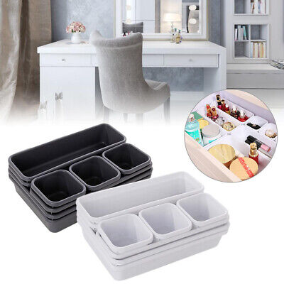 8Pcs Home Drawer Storage Tray Box Office Desk Closet Jewelry Makeup Organizers Home & Garden