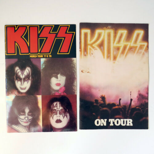 Two 1970s KISS Concert Programs
