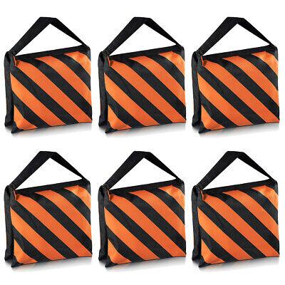 Neewer Set of 6 Black/Orange  Sandbag Photography Studio  Stage Sandbag