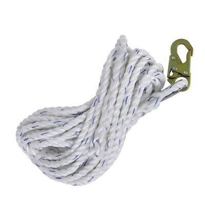 Lifeline Rope Fall Protection Harness Safety Vertical W Back Splice Snap Hook