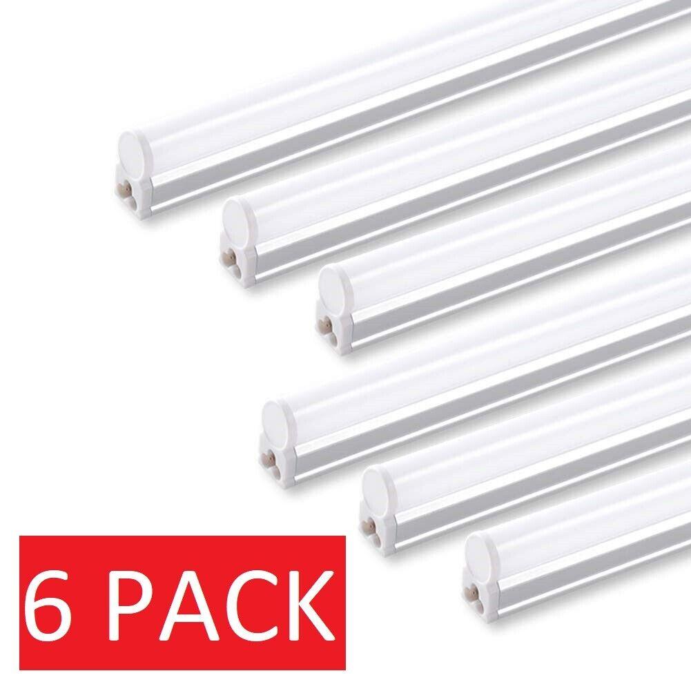 6 PACK 4FT LED Shop Light T5 Linkable 6500K Super Bright Uti