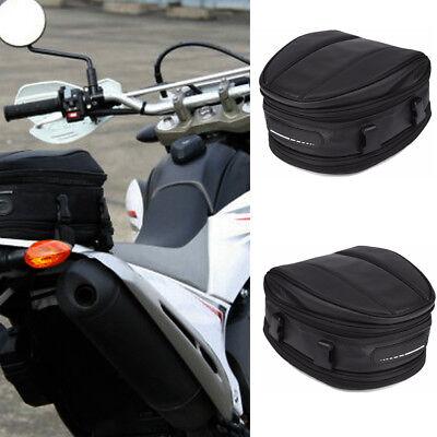 UK Waterproof Motorcycle Rear Tail Bags Sport Back Seat Bag Scooter Tool Pack