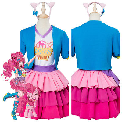 My Little Pony MLP Pinkie Pie Skirt Suit Tiered Bow Cosplay Costume Dress - Pinkie Pie Cosplay Dress