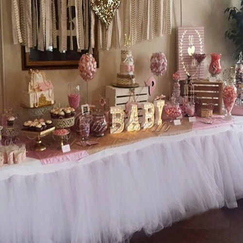 handmade tulle tutu table skirt for wedding birthday baby shower tableware decor