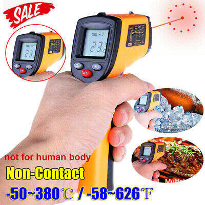 Digital No-touch Lcd Ir Laser Industrial Infrared Temperature Thermometer Gun A