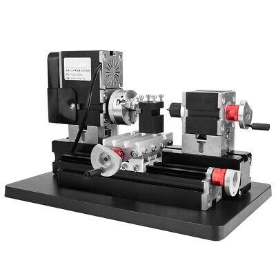 60w Motorized Mini Lathe Machine High Power Diy Woodworking Tool 12vdc 12000rpm