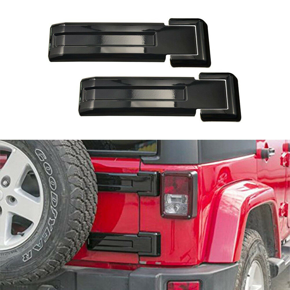 RT-TCZ Tailgate Hinge Cover Trim Spare Tire Rear Door Lift Gate Trim Cover ABS Decoration Accessories for Jeep Wrangler JL JLU 2018-2021 UP Sport X Sahara Rubicon Pink