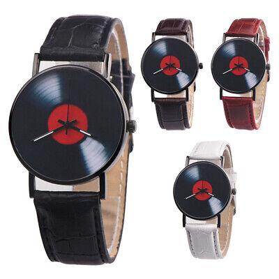 Fashion Retro Vinyl Record Round Dial Analog Quartz Wrist Watch Women Men Gift Jewelry & Watches