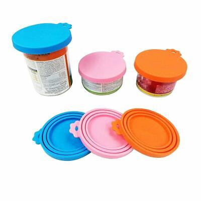 3 PCS Universal Silicone Pet Food Cup Cover Can Lid for Dog and Cat Food Coaster