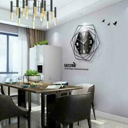 Large Wall-mounted Clock Big Watch 3D Roman Numerals Iron Modern Home Decor DIY