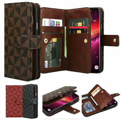 Twice Card Flip Book Leather Wallet Case Cover for iPhone XS/Galaxy Note10+ 9 S9