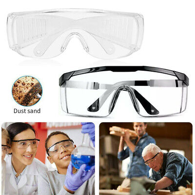 Clear Safety Anti Fog Goggles Glasses Work Lab Outdoor Eye Protection Eyewear