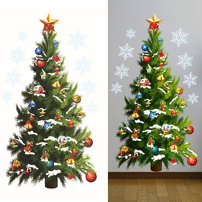 - Home Christmas Tree Mural Wall Decals Art Stickers Removable Shop Window Decor