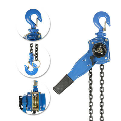 0.75 Ton Lever Block Chain Hoist Ratchet Type Come Along Puller 5ft Chain Lifter