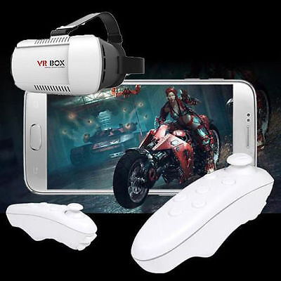Popular VR BOX Virtual Reality 3D Glasses Bluetooth Remote Control For phone