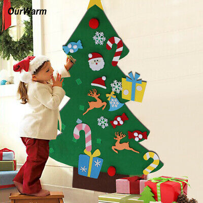 Kids DIY Felt Christmas Tree with Ornaments Wall Hanging Xmas Gifts for Children ()