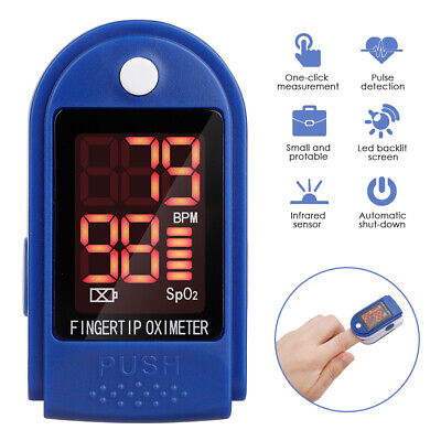 Finger Pulse Oximeter Blood Oxygen Saturation Meter Spo2 Pr Heart Rate Monitor