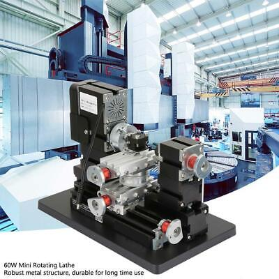 60W 5A High precision Mini Metal Rotating Lathe 12000RPM Motor