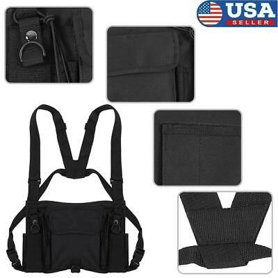 """Hot Sale"" Hands Free Walkie Talkie Radio Holder Vest Chest Harness Holster Vest"