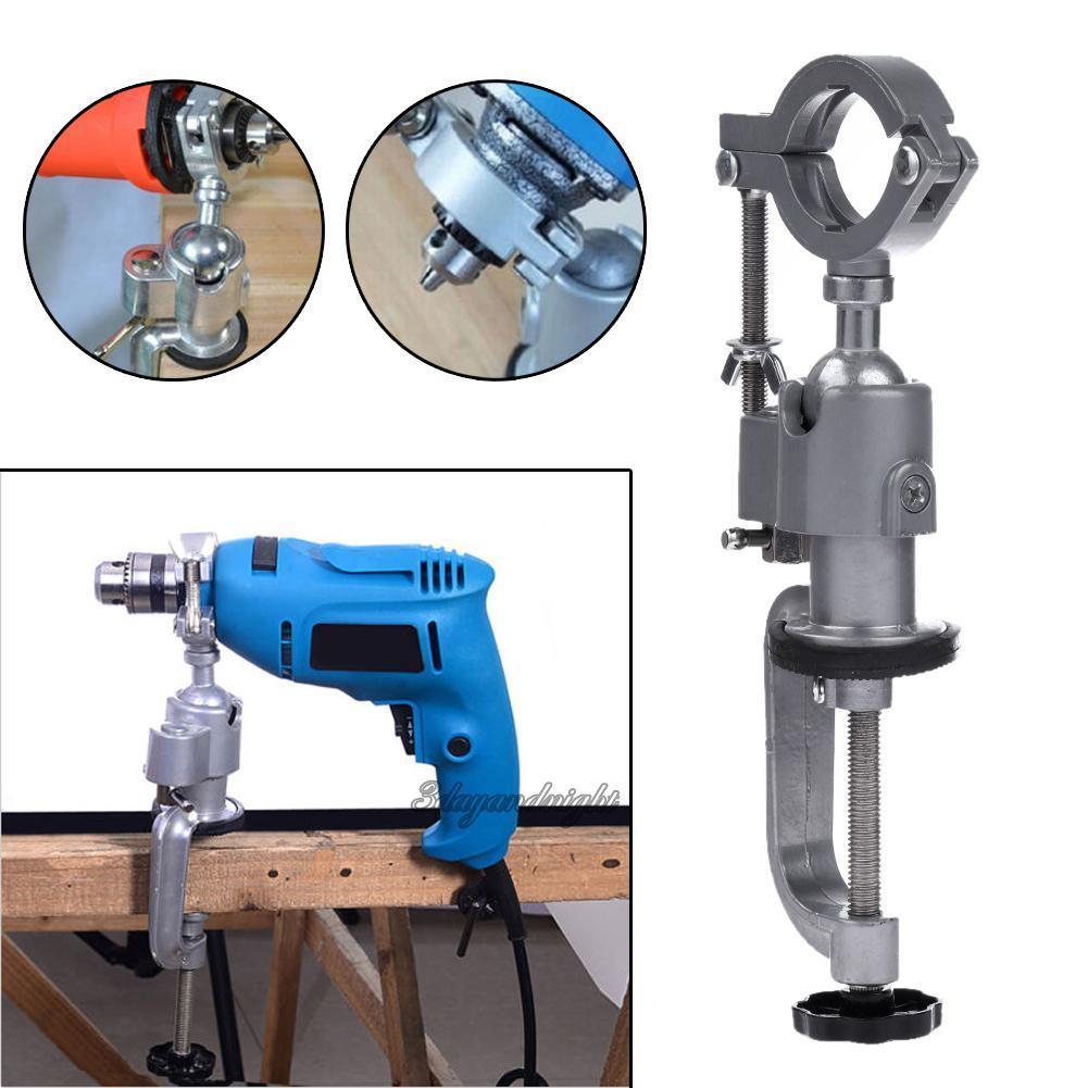 Clamp-on Grinder Holder Bench Vise for Electric Drill Stand