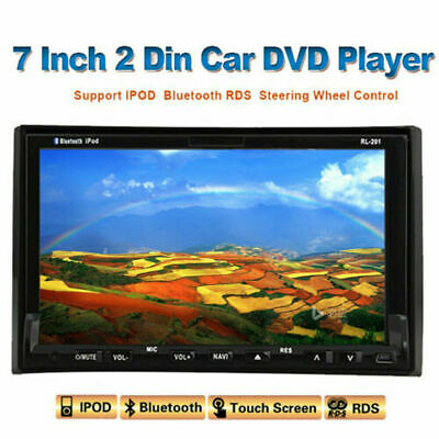 7 Inch Double 2 Din Car Radio DVD Player Bluetooth GPS Navi Stereo In Dash USB