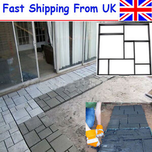 DIY Driveway Paving Brick Patio Concrete Slabs Path Garden Walk Maker Mould UK