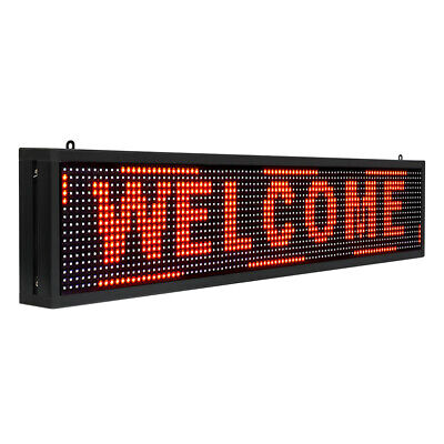 Programmable 40 X 8 Red Indoor Led Sign Scrolling Message Board Hanging