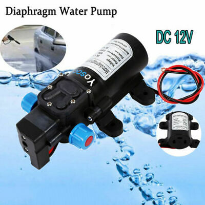 60W 12Volt Electric High Pressure Self-priming Diaphragm Water 115psi Pump