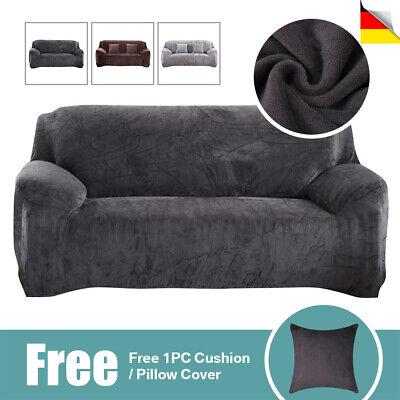 Sofa Überwürfe Sofabezug Stretch Samt Sofahusse für 1/2/3 Sitzer Sofa Abdeckung