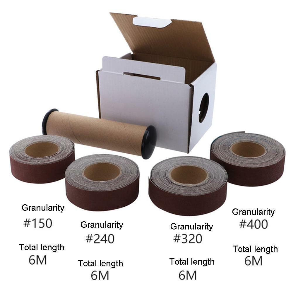 H3E# 1 Box Set Sanding Belt Drawable Emery Cloth Sandpaper Wood Grinding Roll