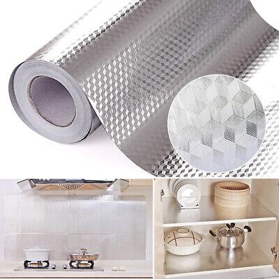 Kitchen Oil Proof Aluminum Foil Sticker Wall Floor Self Adhesive Waterproof  (Kitchen Foil)