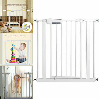 Walk-Thru Safety Gate Baby Pet Fence Child Toddler for Stairs Doorways Play Yard