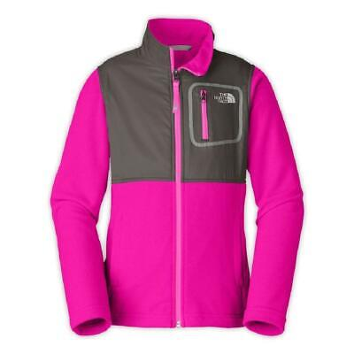 The North Face Glacier Track Fleece Jacket Girls Luminous Pink L 14/16 North Face Glacier Track