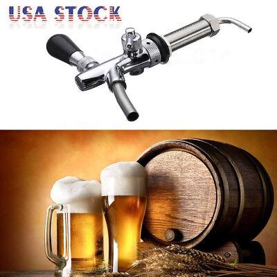 Kegerator Draft Beer Faucet With Flow Controller Chrome Plating Shank Tap Kit