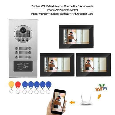 7 zoll Türklingel drahtlos Video Gegensprechanlage WLAN Wifi IR-Nachtsicht ()