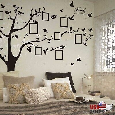 Kith and kin Tree Wall Decal Sticker Large Vinyl Photo Picture Frame Removable Black