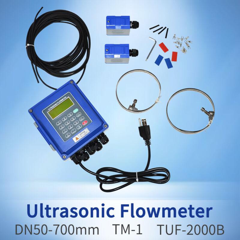 Ultrasonic Flow Meter Liquid Flowmeter IP67 Protection TUF-2000B DN50-700mm