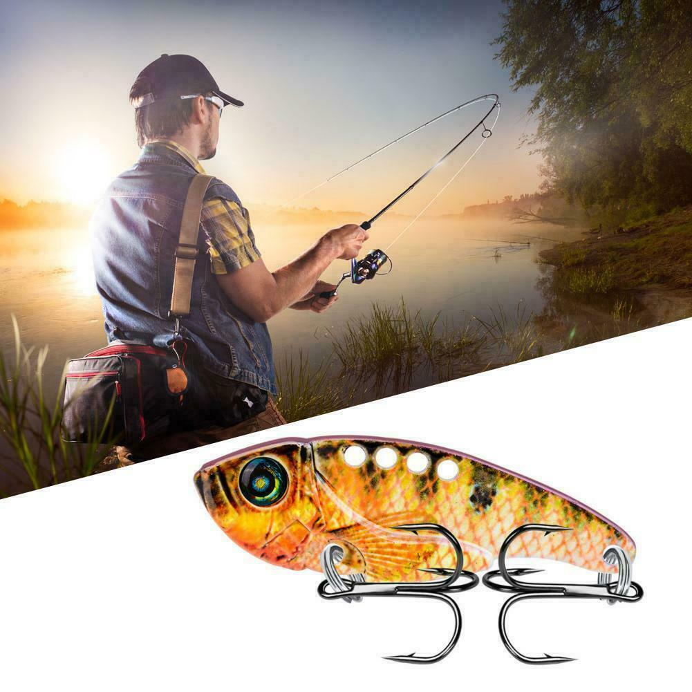 Metal VIB Fishing Lure Fishing Tackle Crankbait Vibration Sinking Spoon Spi J6X1