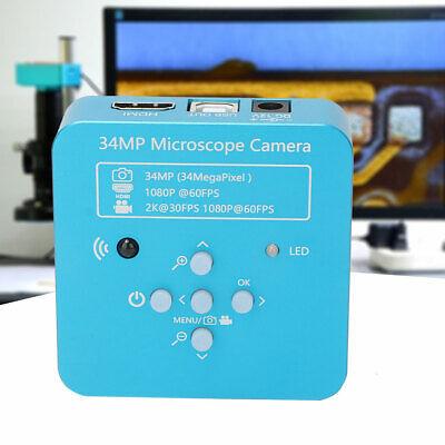34MP Industrie Mikroskop 1080P Microscope HDMI USB 2.0 C-Mount Kamera EU C-mount-kamera