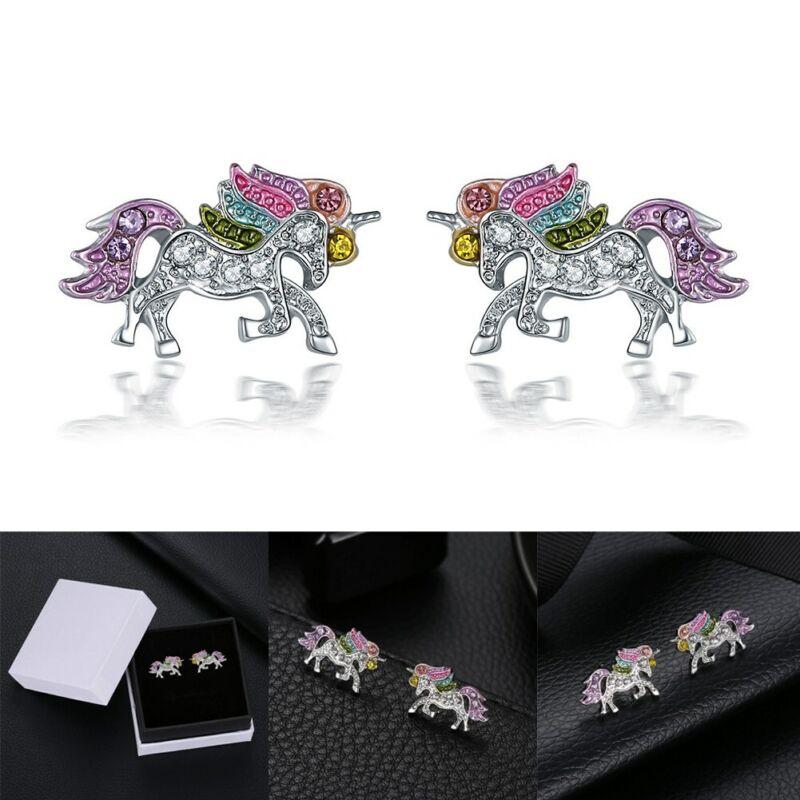Unicorns Style Earrings Girls Animals Hypoallergenic Stud Ea