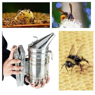 Bee Hive Smoker Heat Shield Calming Beekeeping Equipment Tool Silver Safty Tools